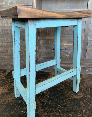 Turquoise Counter Height Stools (pair of 2)