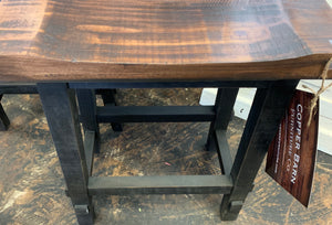 Black Counter Height Stools (pair of 2)