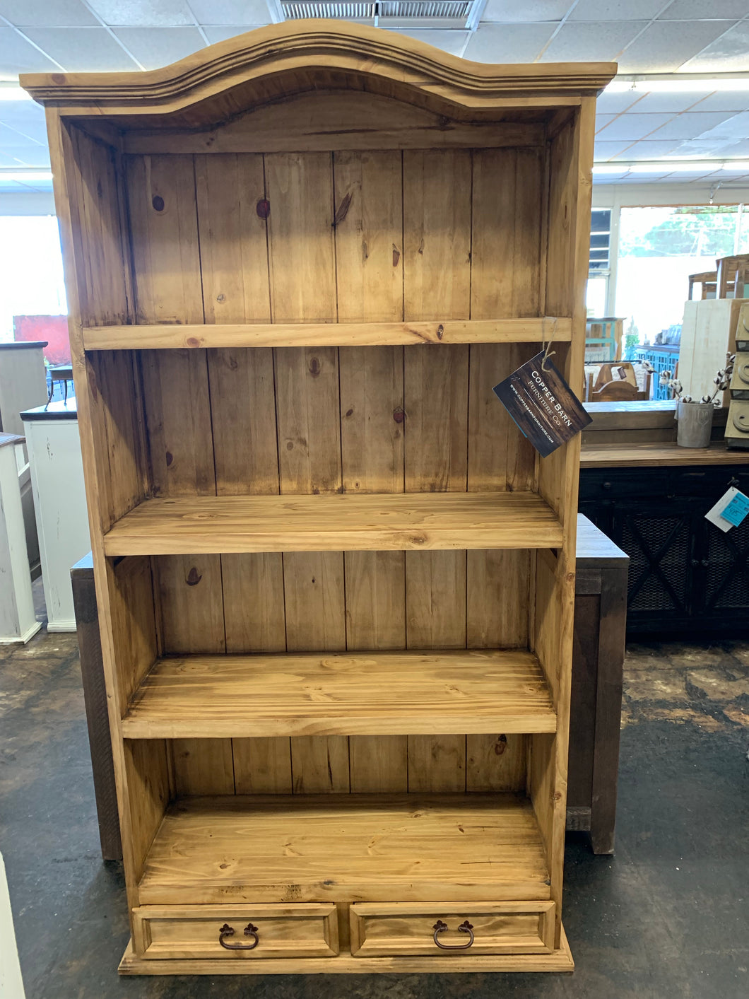 Mallory Light Rustic Bookshelf