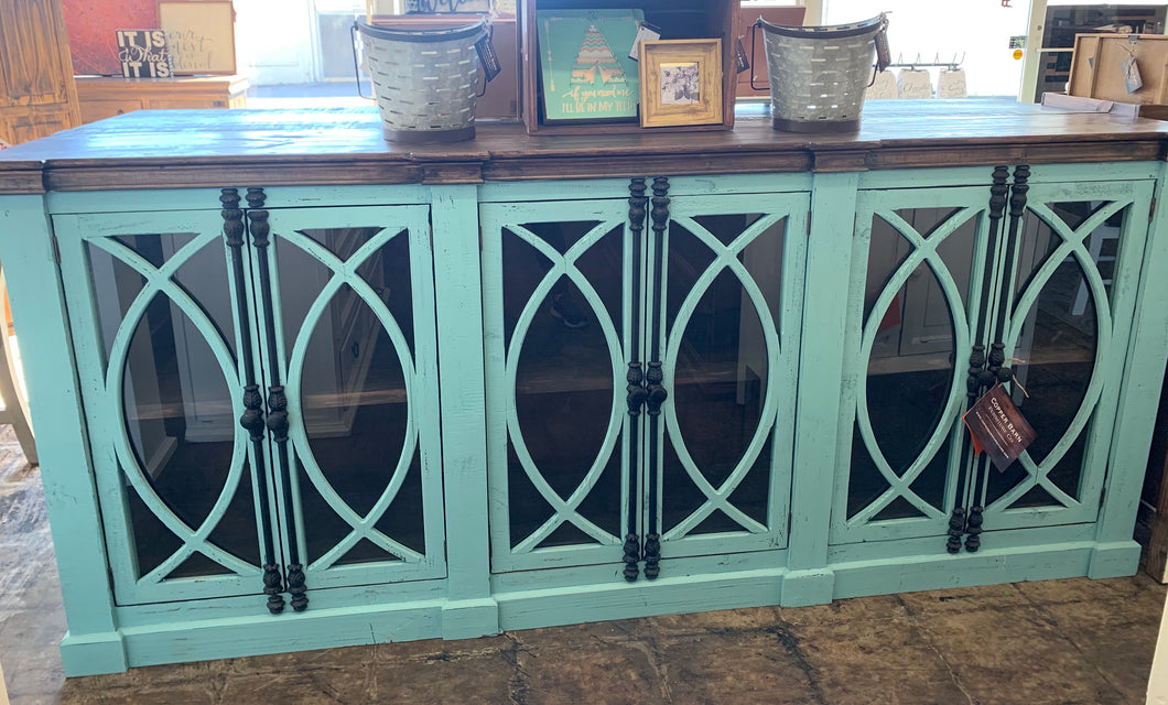 Cameo Turquoise Large Console Cabinet