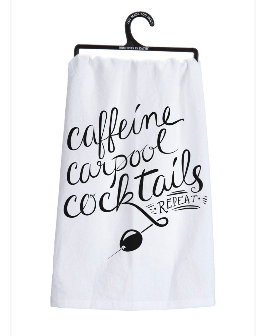 Caffeine Carpool Tea Towel