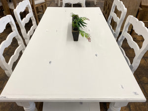 Madeleine White 7 Piece Dining Table Set
