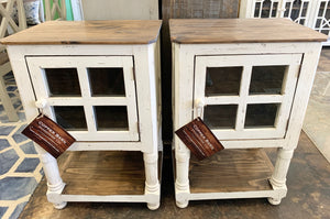 Faith White Accent Cabinet