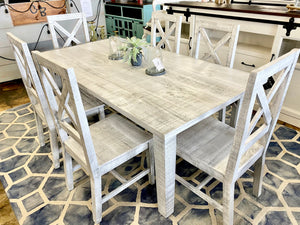 Alicia Gray Washed White 7 piece Dining Set