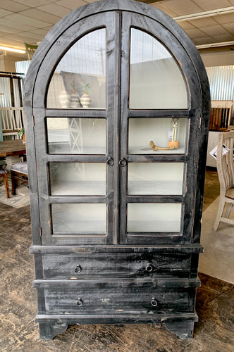 Kelly Black & Gray Display Cabinet