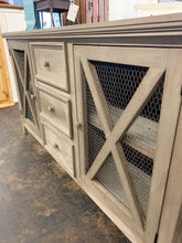 Load image into Gallery viewer, Logan Barn Gray Farmhouse Cabinet
