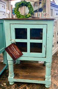 Faith Turquoise Accent Cabinet