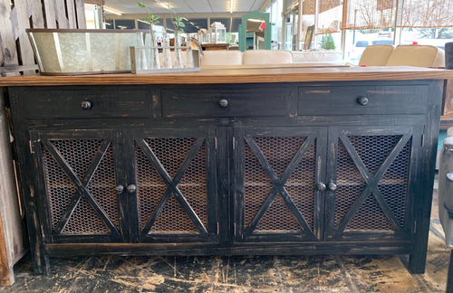 Harrington Black Farmhouse Cabinet