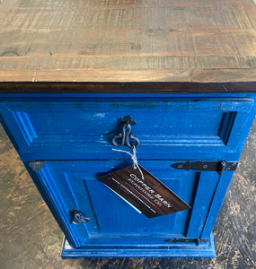 Brooklyn Dark Blue Nightstand