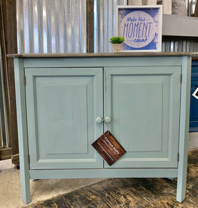 Samantha Beach Blue Accent Cabinet
