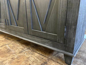 Maggie Charcoal Gray Console Cabinet
