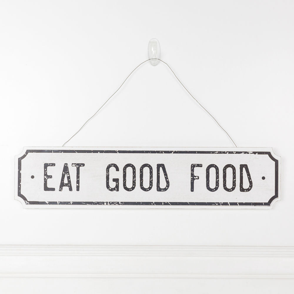 Eat Good Food wood sign