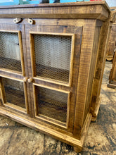Load image into Gallery viewer, Carson Light Honey Farmhouse Cabinet