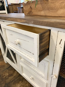 Logan White Farmhouse Cabinet