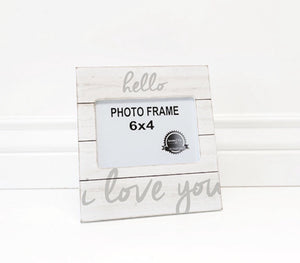 Hello I Love You Picture Frame