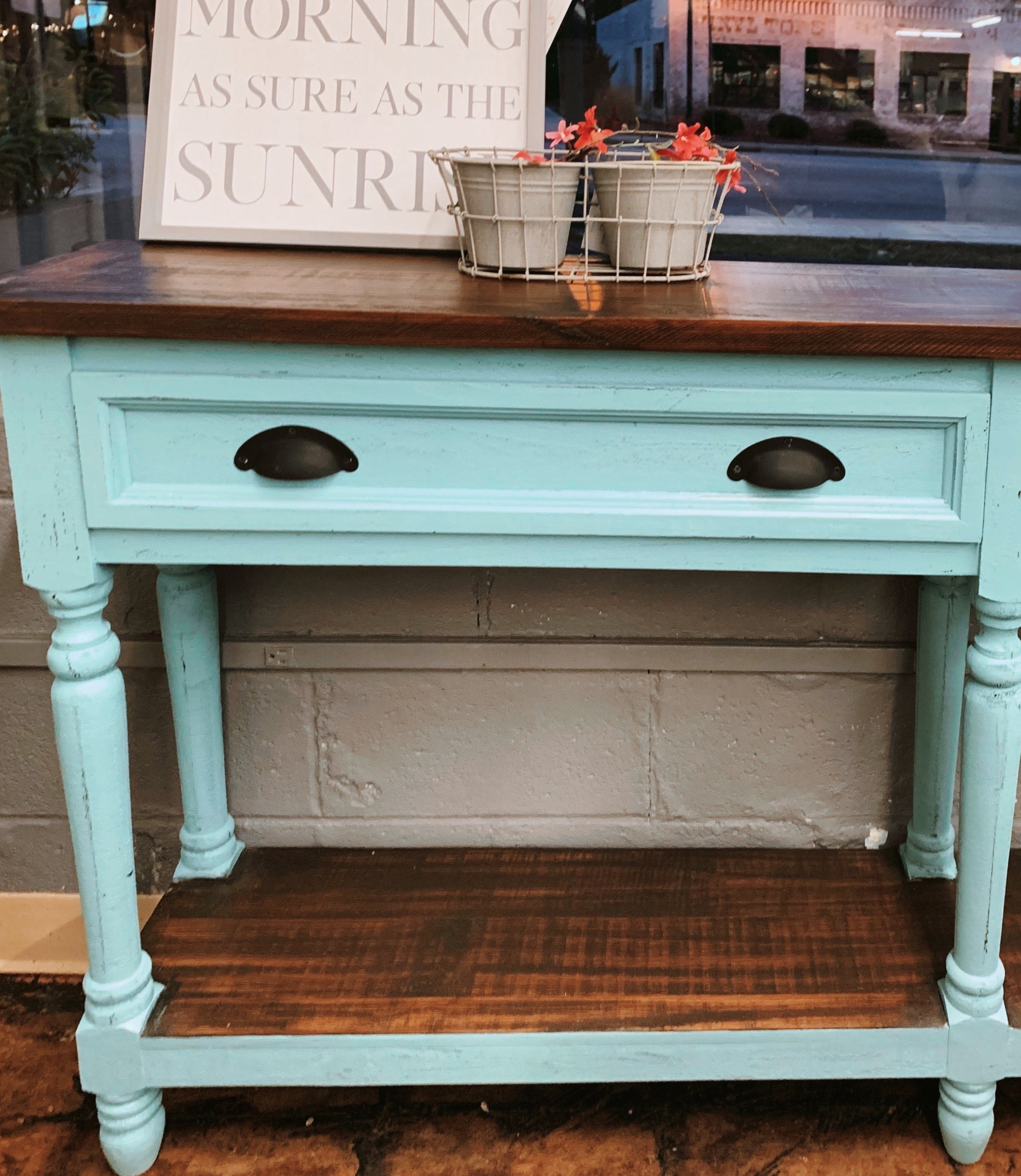 Whitney Large Turquoise Sofa Table
