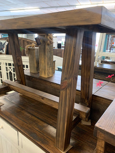 Farmhouse Brown Sofa Table