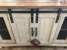 Load image into Gallery viewer, Parrish Gray Barn Door Cabinet
