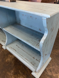 Cara Light Agave Blue Bookcase