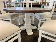 Load image into Gallery viewer, Joshua 6 Piece White & Linen Dining Set