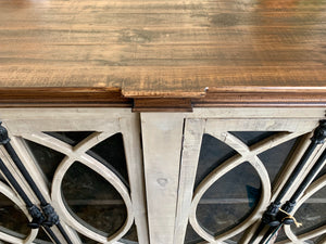 Cameo Old Gray Console Cabinet