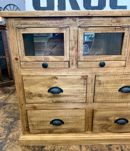 Whitney Light Rustic Console Cabinet
