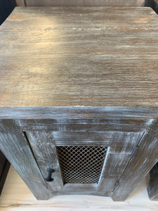 Parrish Weathered End Tables (pair of 2)