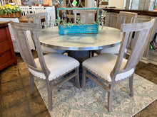 Load image into Gallery viewer, Zinc top dining table set