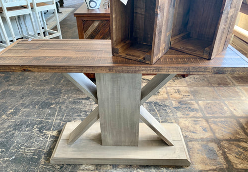 Farmhouse Old Gray Sofa Table