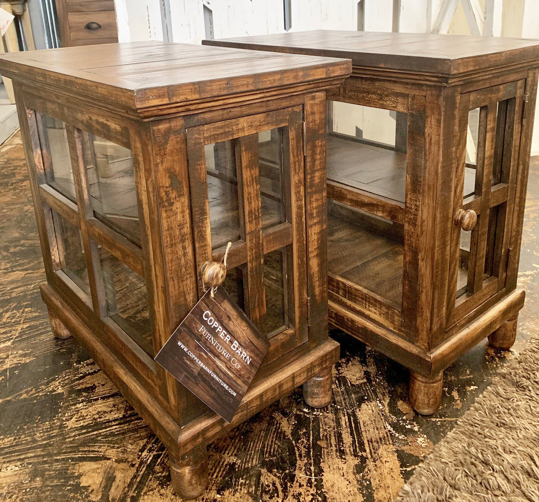 Tanner Glass Sides End Tables (pair of 2)