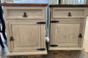 Brooklyn Large Old Gray Nightstands (pair of 2)