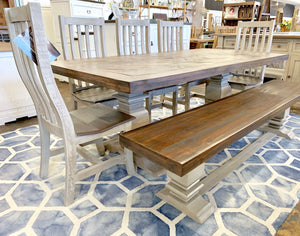 Herringbone Gray 7 piece Dining Table Set
