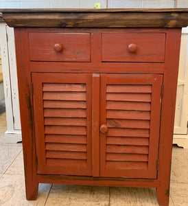 Kenzie Red Accent Cabinet