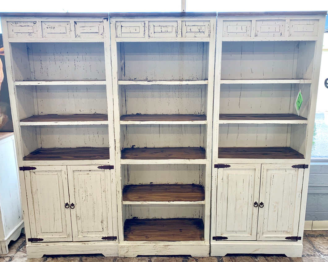 3 piece Chloe Bookshelves