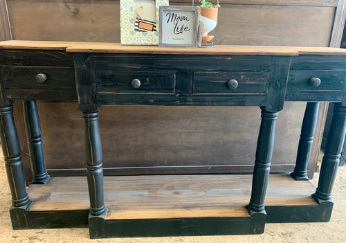 Molly Black Sofa Table