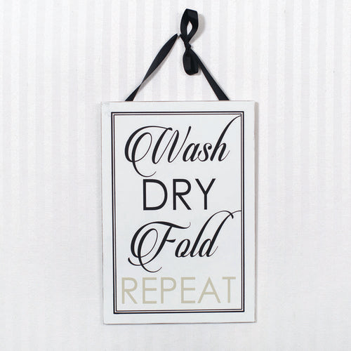 Wash Dry Sign