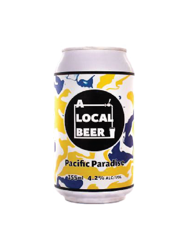 "A Local Beer ""Pacific Paradise"""