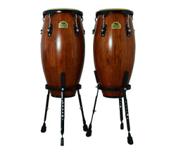 "Burnt Sienna 10"" & 11"" Congas with Basket Stand - Siam Oak"