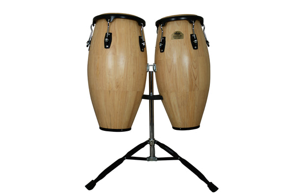 "Natural 10"" & 11"" Congas with Dual Stand - Siam Oak"