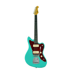 JM-Seafoam Green-T | Electric Guitar - Seafoam Green w/ Red Tortoise