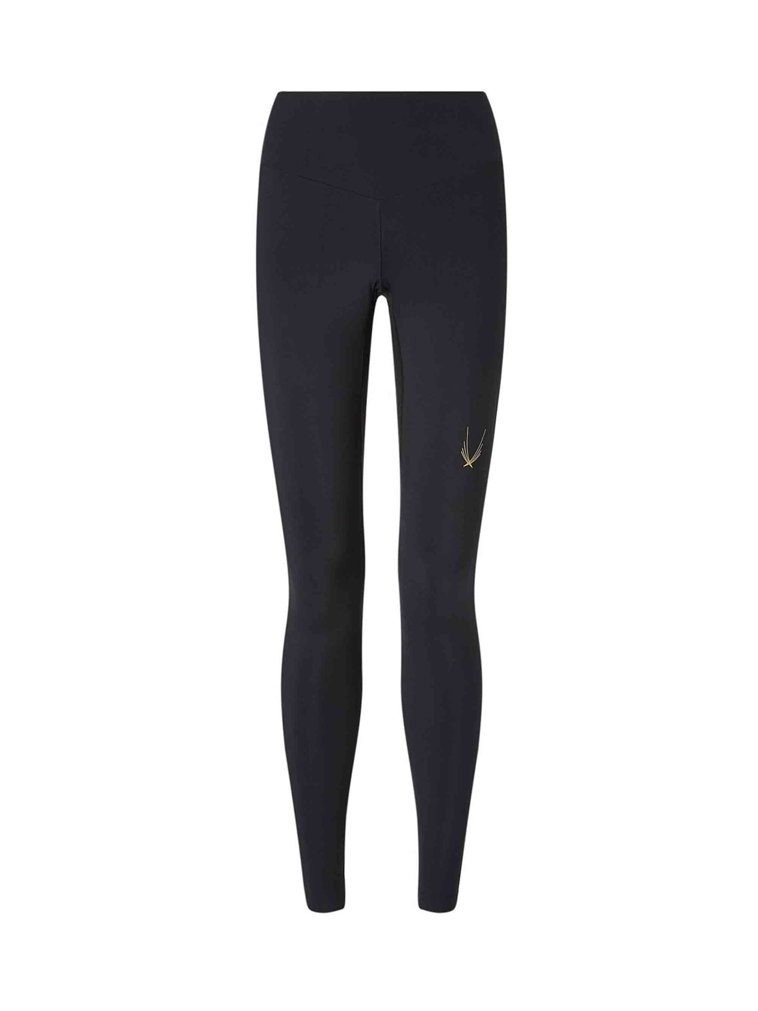 svelte leggings by lucas hugh in black, with bonded waistband and concealed zip pocket