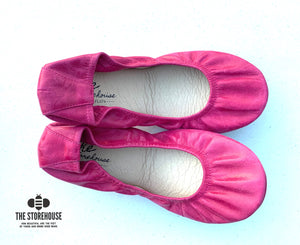 The Storehouse Flats Special Edition: Bright Pink Oil Tanned