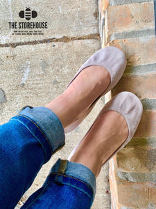 The Storehouse Flats Special Edition: Taupe Suede