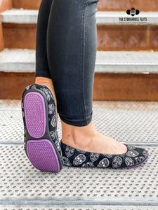 The Storehouse Flats Special Edition: Black Suede Sugar Skulls (Pre-Order)