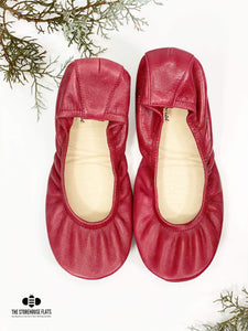 The Storehouse Flats Special Edition: Maroon Traditional Leather