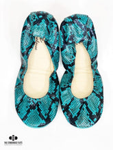 Load image into Gallery viewer, The Storehouse Flats Special Edition: Teal Snakes (Pre-order)