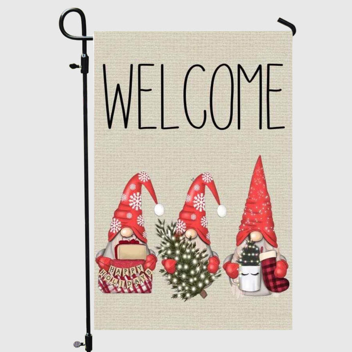 Christmas Gnome Garden Flag (Wholesale Pre-Order)