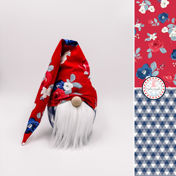 Patriotic Gnomes Wholesale: Liberty Floral Boy (Minimum 15 mixed)