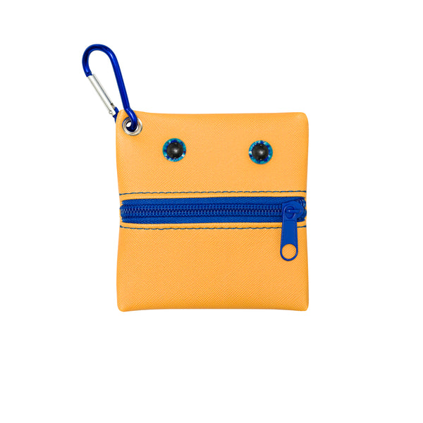 A cute little carrying pouch for keeping your face mask clean and secure. Attached it to your bag.