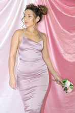 Load image into Gallery viewer, Rosa Satin Dress (Mauve)